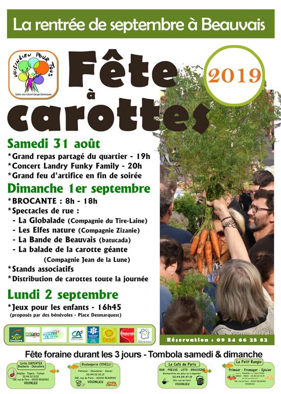 Fête à carottes 2019 - programme