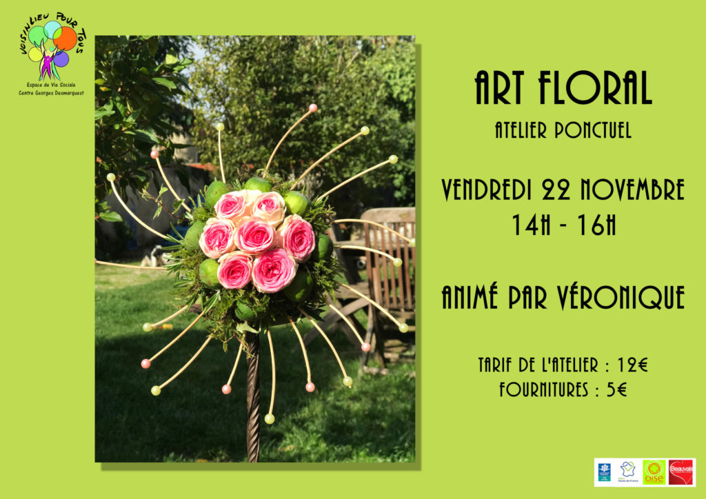 Atelier d'art floral ponctuel du vendredi 22 novembre 2019