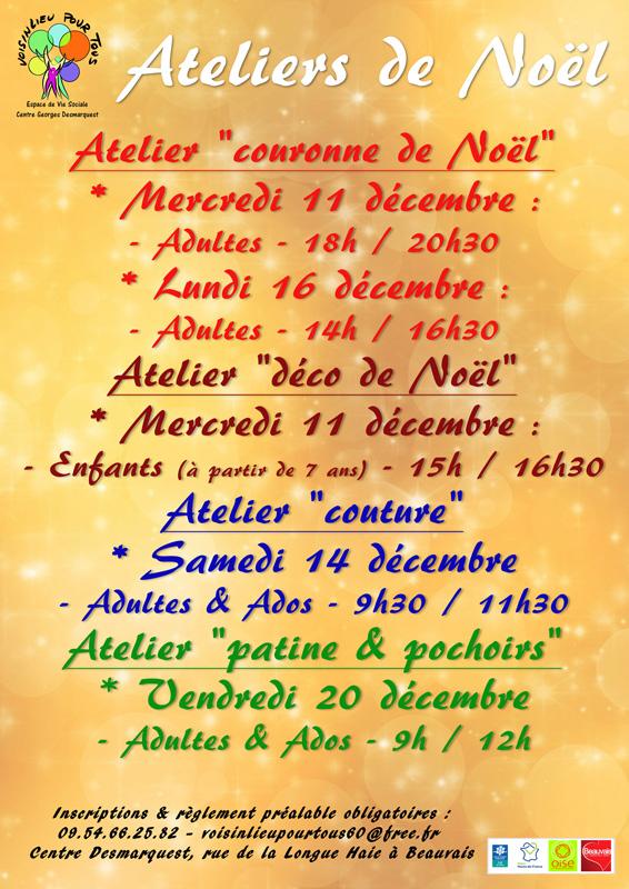 Ateliers de Noël 2019 de Voisinlieu Pour Tous
