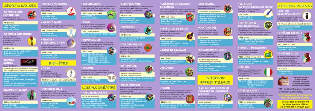 Plaquette des activités 2020/2021