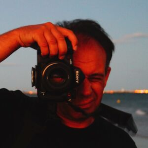 Laurent Govaert : animateur de l'atelier d'initiation photographique.