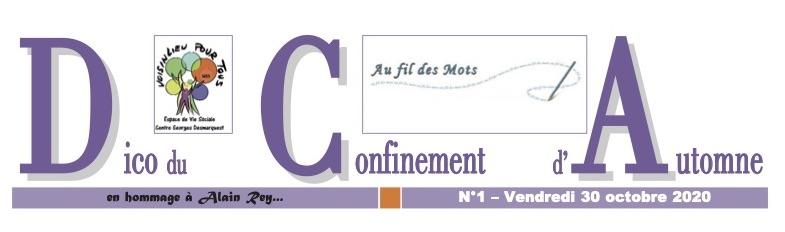 logo du dico du confinement d'automne