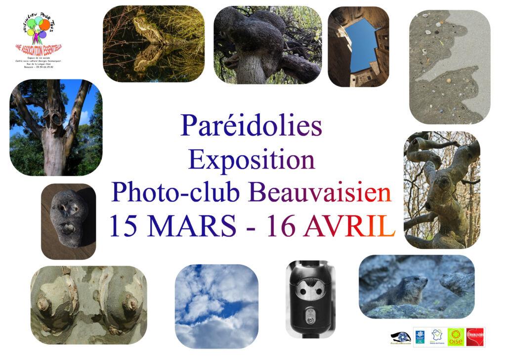 """Affiche de l'exposition """"Paréidolies"""" du Photo-club beauvaisien (mars-avril 2020)"""