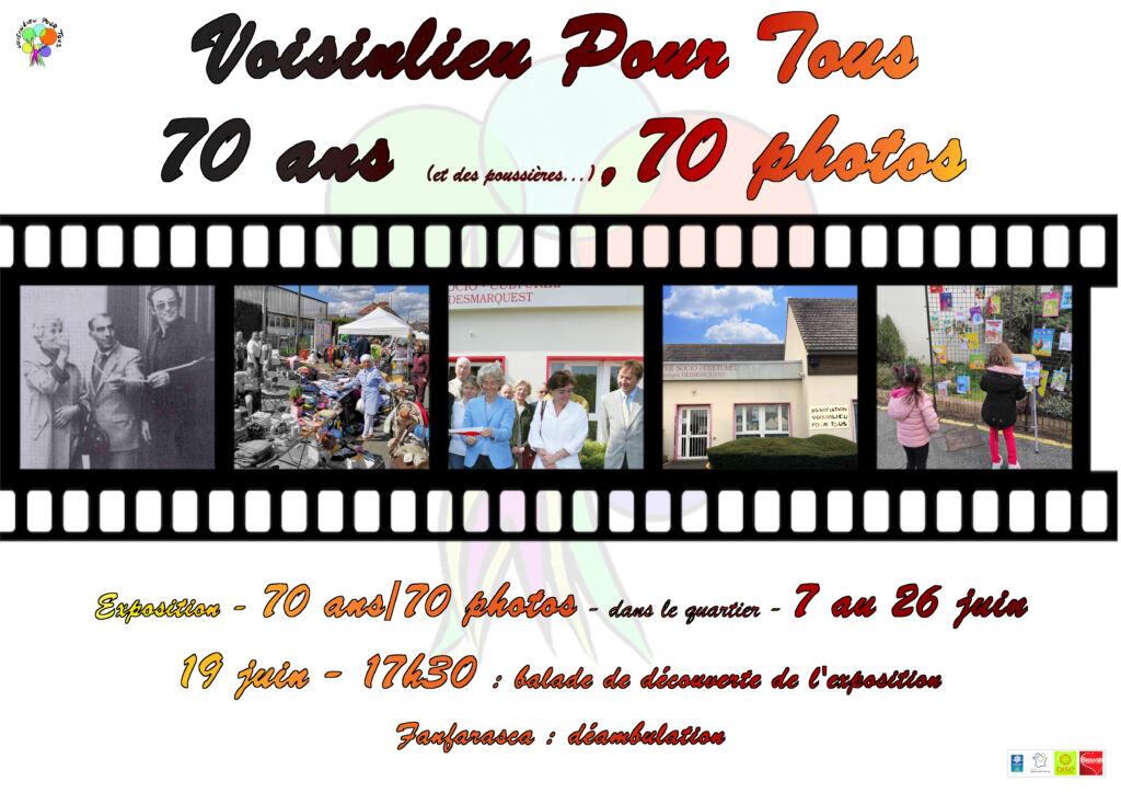 Affiche pour les 70 ans de l'association Voisinlieu Pour Tous
