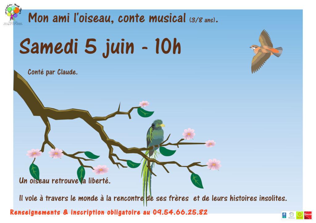 """""""Mon ami l'oiseau"""" du 5 juin 2021."""